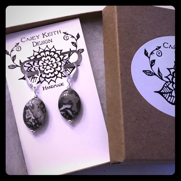 Crazy Lace Agate aka Laughter Stone Earrings